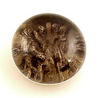 Antique Glass Pinchbeck Paperweight