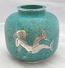 ARGENTA VASE BY KAGE WITH MERMAID AND TRITON