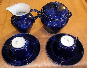 Nice franch sevres Royal blue tea set