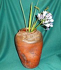 Antique Japaneseflower vase studio Bizen