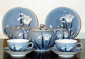 Nice Japanese hirado tea set Meiji Era
