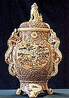 Great Large Japanese Satsuma Censer Meiji Era TOKOZAN