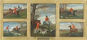 5 British Hunting Scenes: William Henry Wheelwright