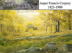 Hudson River Stream in Forest: Jasper Cropsey
