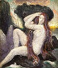 Red Haired Nude in Landscape: Claude Buck