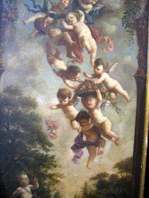Cupids in Landscape: Francois Boucher Attr