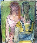 Two Women by Gerritt Hondius