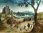 Religious Procession with Castle: Henri Met De Bles