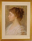 Portrait of Young Woman: Alexander Mueller (Muller)