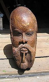 African-American Head of Man with Beard & Pipe