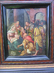 The Magi  (3 Kings) visit the Holy Family: 18th C