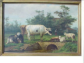 Landscape with Cows/Sheep  Verboeckhoven