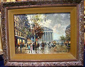 Paris Street Scene: Antoine Blanchard, Sr
