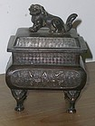 Antique Japanese  C. 1900 Bronze Incense Burner