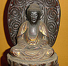 Antique Japanese Lacquered Nyorai Zen Buddha c.1885