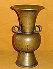 Antique Meiji Period Japanese Bronze Flower Vase c.1900
