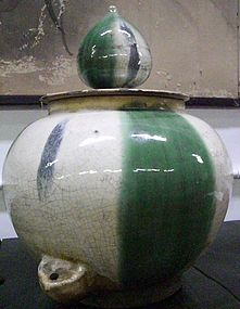 Rare Japanese Antique Shigaraki Soy Jar C.1870