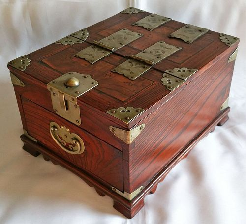 19th Century Men S Mirror Box Of Quality Persimmon And
