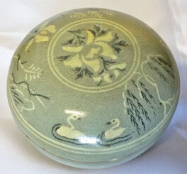 12th Century Inlaid Celadon Cosmetic Box