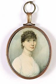 Miniature Painting Thomas Hazlehurst  c1805