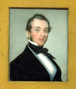 Richard Staigg Miniature Portrait on Ivory c1845