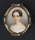 John Carlin Miniature Portrait on Ivory c1852
