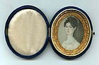 A Charming Miniature Panting on Ivory  c1830