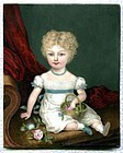 William Corden the Elder Miniature of Young Girl c1825