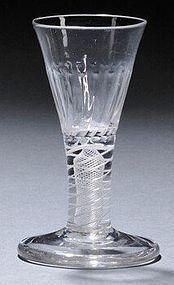 Opaque Twist Firing Dram Glass  c1765