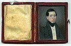 American Miniature Portrait Painting on Ivory c1835
