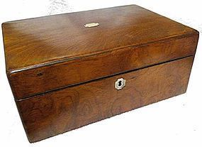 English Rosewood Lap Desk  c1850