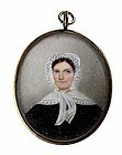Striking Miniature Painting of Woman  c1810