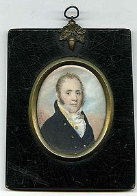 William Doyle Miniature Portrait Painting c1814