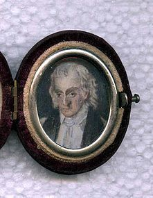 Fine Miniature Painting after William Birch c1835