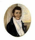 Miniature Portrait of an American Sea Captain c1805