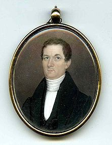 Jeremiah Paul Miniature Portrait c1815