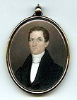 Jeremiah Paul Ivory Miniature Portrait c1815