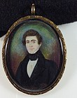 Abraham Parsell Miniature Folk Painting c1835