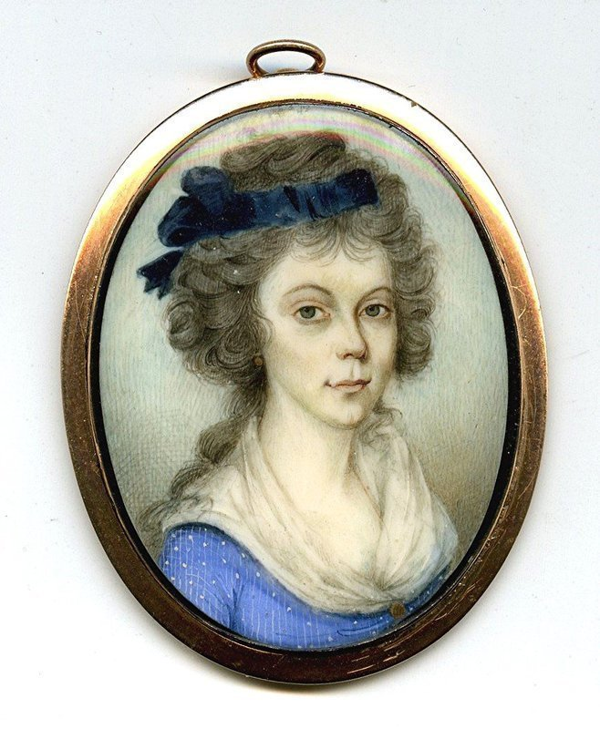 Portrait Miniature by John Barry c1790