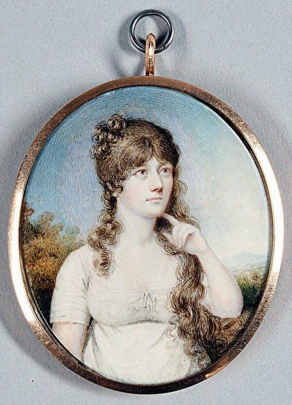 A Fine Portrait Miniature by Mary Ann Knight c 1815