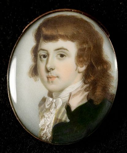 A Superb John Barry Miniature Portrait c1790 (item #1371170)