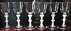 Antique Wine Glasses Set of 6 Opaque Twists C 1765