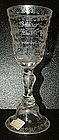 Large Engraved Glass Goblet; C 1876