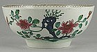 Polychrome Chaffers Liverpool Bowl, c 1762