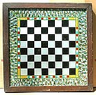 Exceptional Reverse Painted Game Board; c 1880