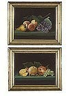 American Folk Art  Pastel Still Lifes  c1850