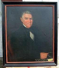Superb Ammi Phillips American Folk Art  Portrait  c1840