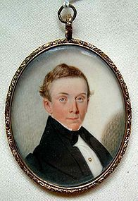 Miniature Painting by Samuel Broadbent  c1840