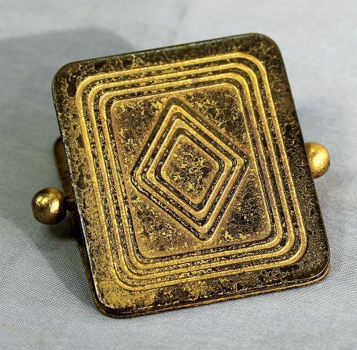 """""""Tiffany Studios"""" Gilded Bronze Clip, Art Deco"""