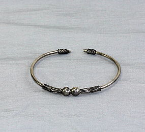 Thai Siamese Silver bangle Bracelet